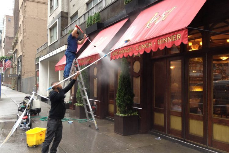 Power Washing for Rue 57 Restaurant
