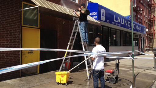 Pressure Washing Cleaning Store Front