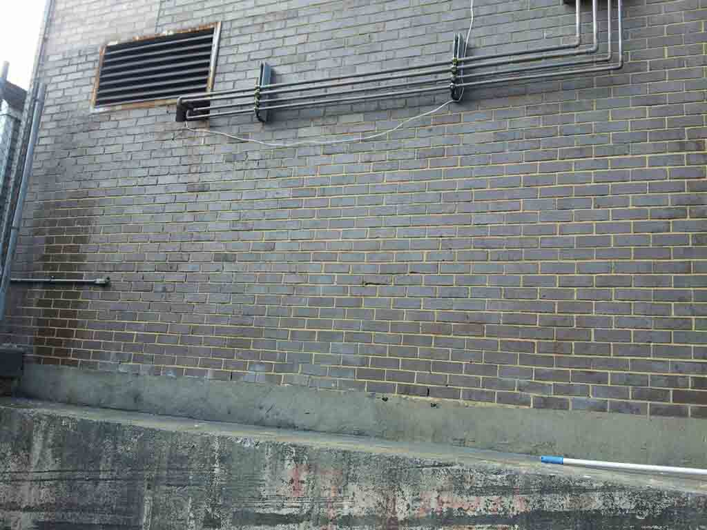 graffiti removal from brick wall – after