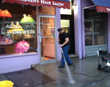 power washing NYC Salon