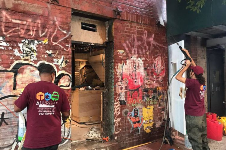 Graffiti removal experts in NYC.