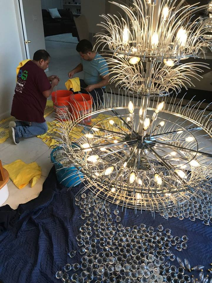 Chandelier Cleaning Service All Bright Services